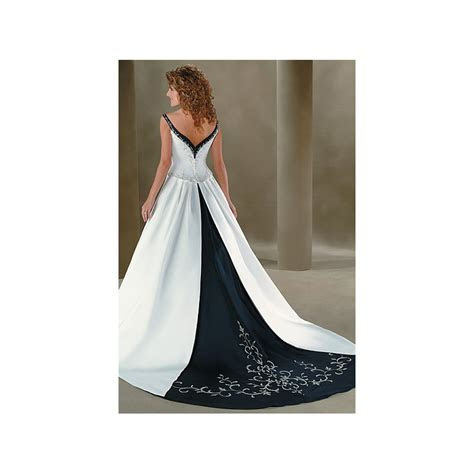 Navy Blue And White Wedding Dress