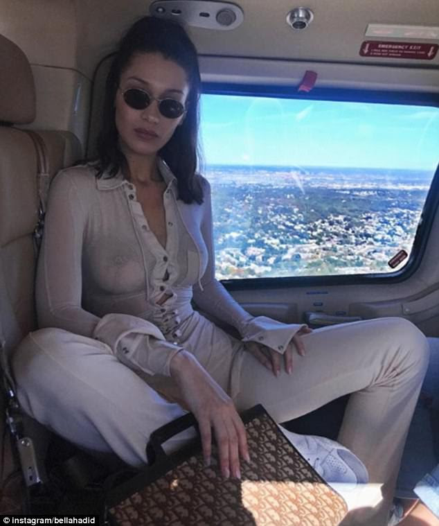 Bella Hadid is among the celebrities who have been womanspreading on Instagram
