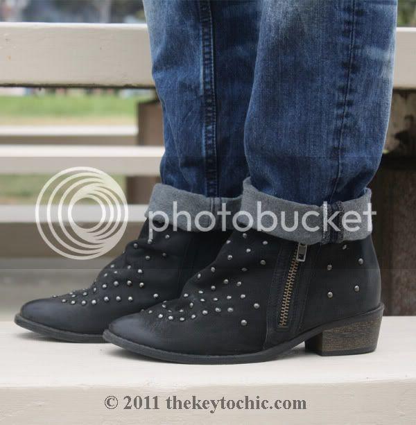 Ecote studded moto boots
