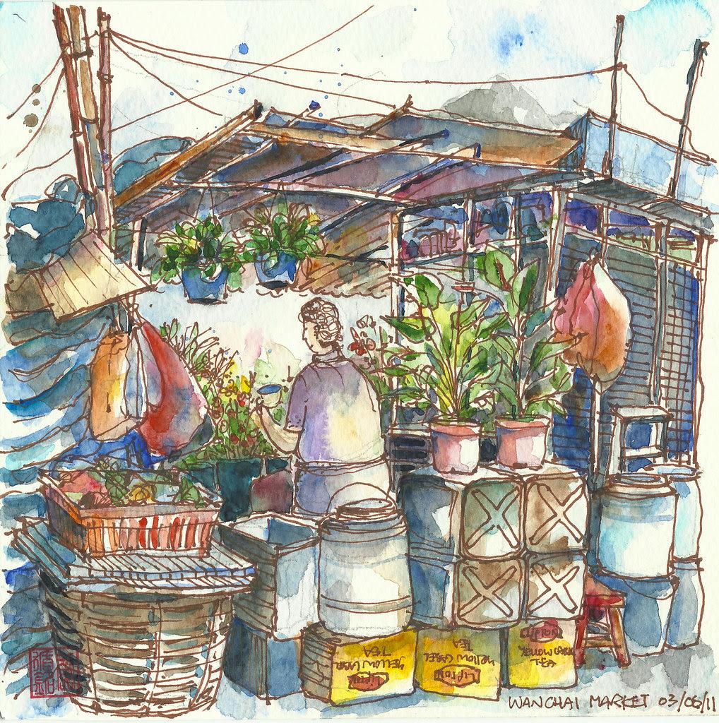 Flower stand @ Wanchai Market