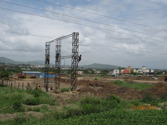 Upcoming residential township of Namrata Group (www.namratagroup.com), next to Naiknavare Lakeshore Residency on Old Mumbai Pune Highway (NH4)