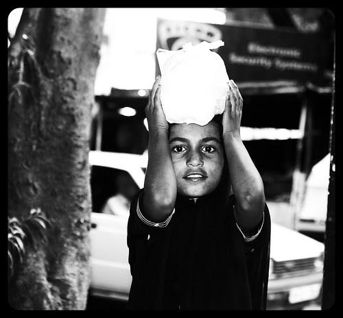 The Muslim Beggar Girl Child by firoze shakir photographerno1