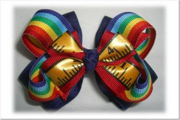 Back to School Classic Hair Bow and Twisted Hair Bow