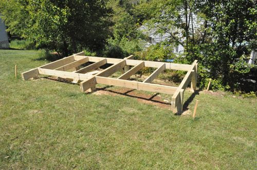 how to build pier foundation for a shed