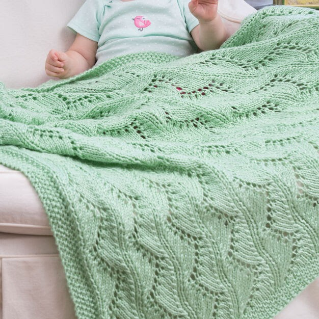 Free Knitting Pattern of the Day Soft Baby Afghan to Knit