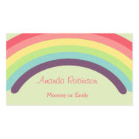 Rainbow Mommy Calling Card Business Card Templates