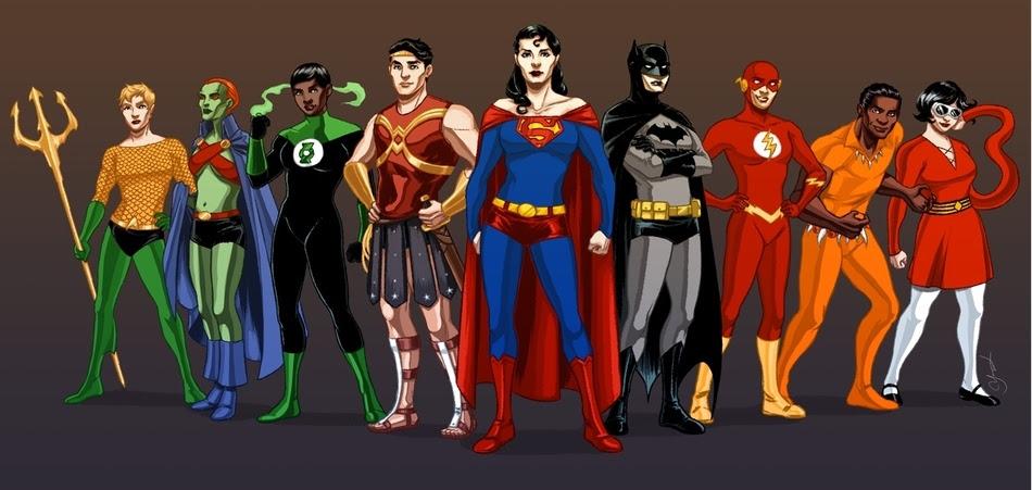 Superheroes cambio de género