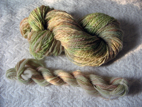 2 ply handspun koolaid dyed