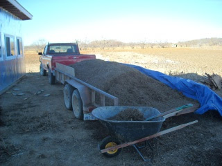 Landscaping Mulch in Flatbed Trailer