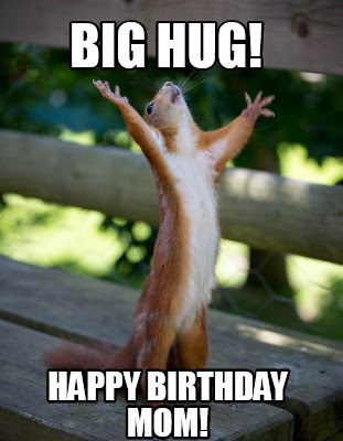 Big Hug Funny Birthday Meme For Mom Happy Birthday Wishes Memes