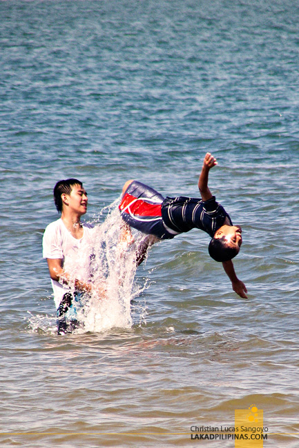 Kids Playing at Roxas City's Baybay Beach