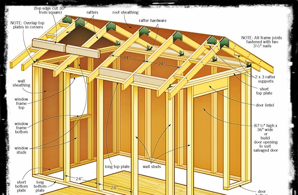 Build Shed Share 8 X 12 Wood Shed Plans Free