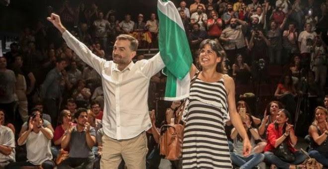 Teresa Rodríguez y Antonio Maíllo, en una imagen de archivo. EP