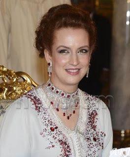 Moroccan Princes Lalla Salma's Ruby and Diamond Tassel Set