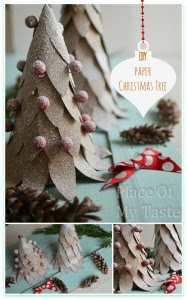 DIY Paper Christmas -Tree @placeofmytaste.com