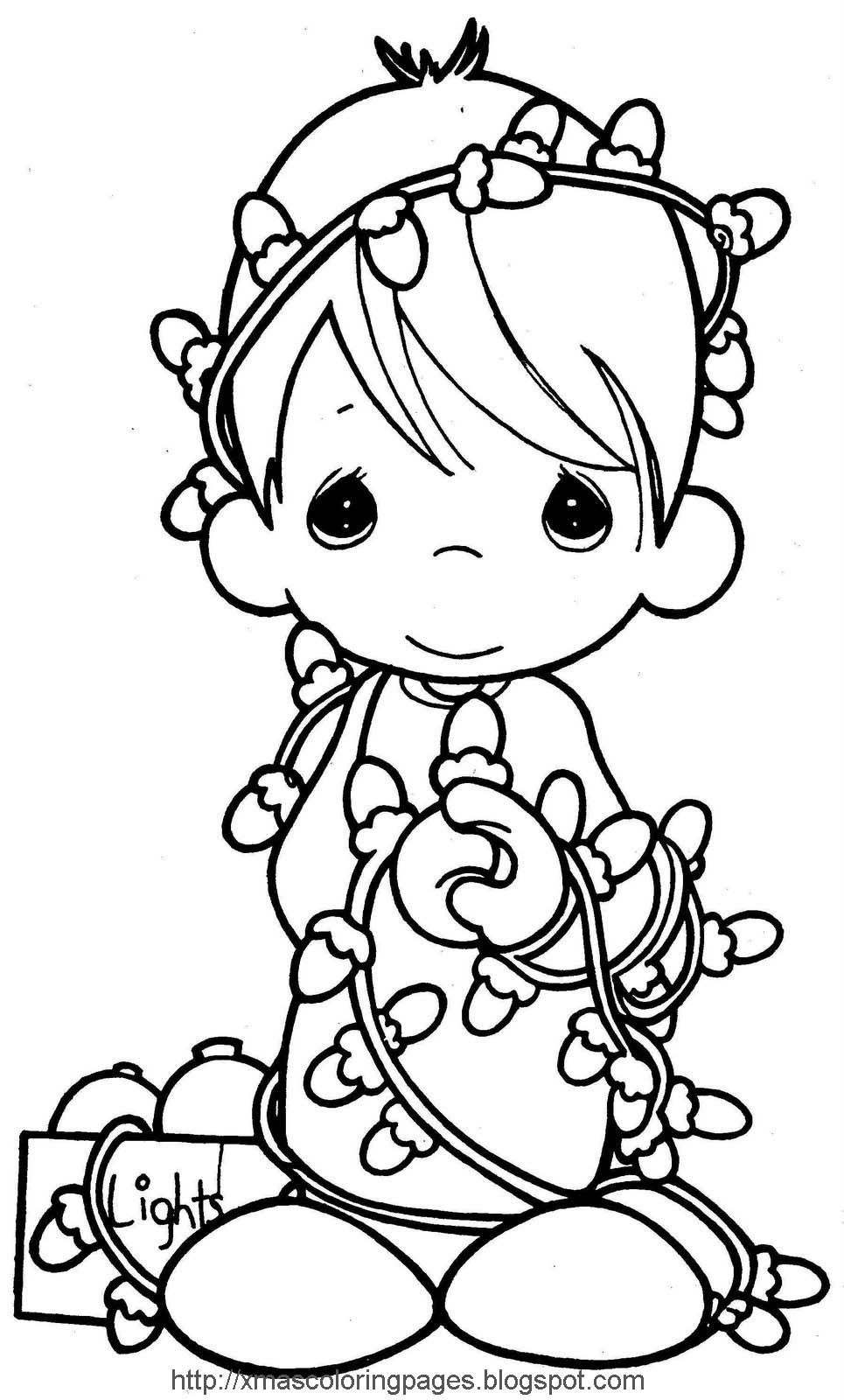 Precious Moments Christmas Coloring Pages Free at ...