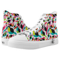 exotic brazil toucan bird background printed shoes