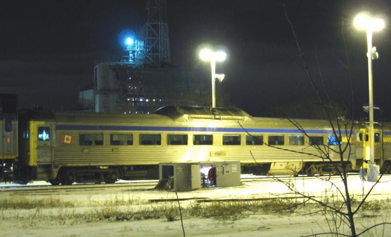 VIA 6135 in Winnipeg. Photo by Jeff Keddy