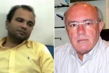 Júnior Bolinha e o empresário Marcão Regadas