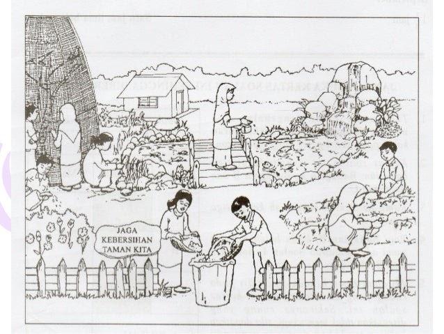 14 Gambar Kartun Orang Sedang Menyiram Bunga