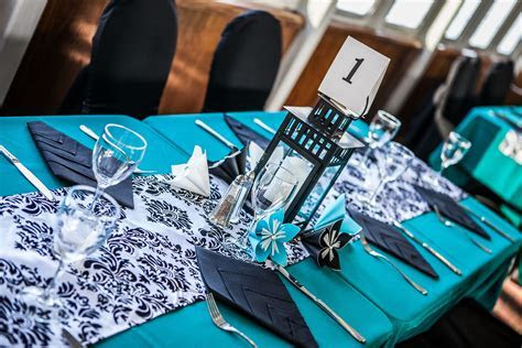 Black, White and Turquoise Fairytale Wedding Cruise