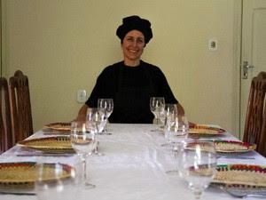Vanessa é responsável pela preparação da comida do Papa Francisco (Foto: Carlos Santos/G1)