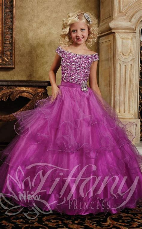 fuschia beading corset princess kids beauty pageant