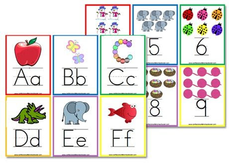 More} FREE Alphabet Flashcards & Wall Posters | Wall posters ...