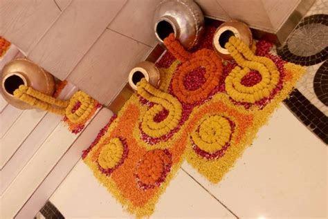 Drool worthy Floral Rangoli Designs for Indian Wedding
