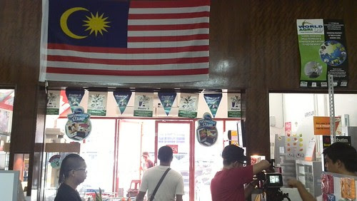 The Malaysian flag inspires me with patriotic feelings during the shoot