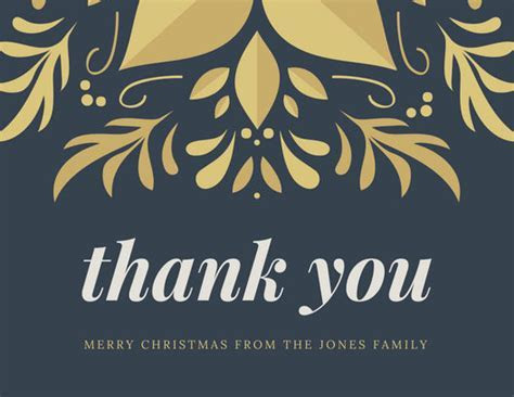 Customize 206  Christmas Thank You Card templates online