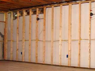 how to build a wall frame in a basement