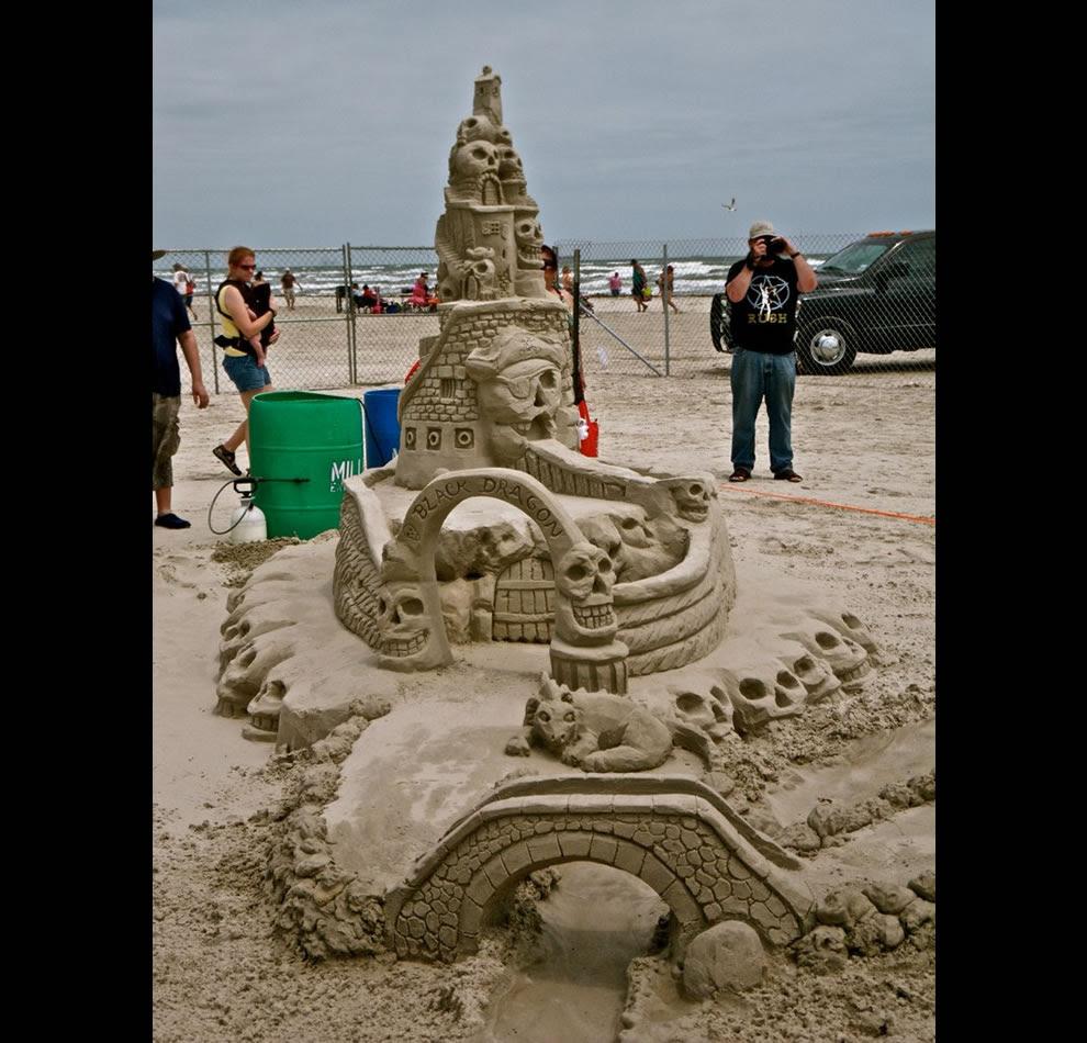 Black Dragon Sand Sculpture