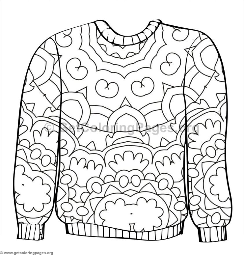 Ugly Sweater Coloring Pages #7 - GetColoringPages.org