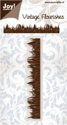 Noor! Design Vintage Flourishes - Grass border