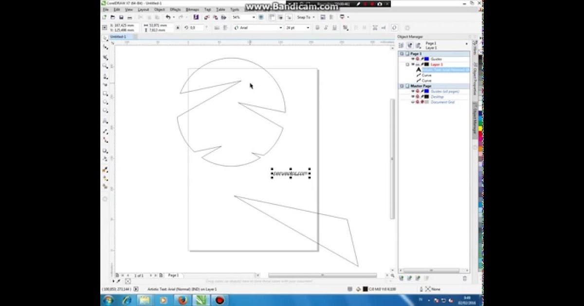 Cara Memotong Gambar Di Coreldraw X7 - AR Production