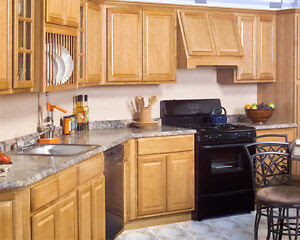 All Wood RTA 10X10 Country Oak Kitchen Cabinets With