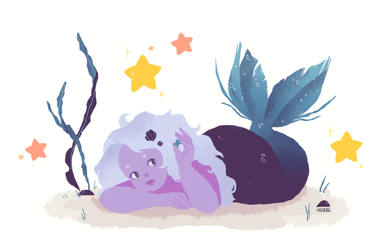 amethyst for mermay ! here's steven comissions are open! | twitter