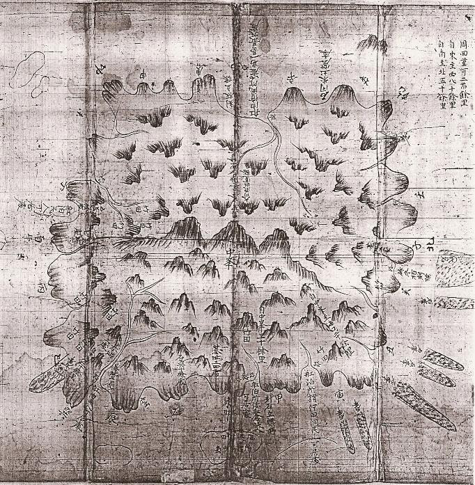 1711 Map of Ulleungdo (鬱陵島圖形)