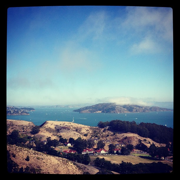 View of Angel Island from the Golden Gate National Recreation Area