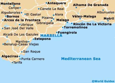 Karta Nordostra Spanien.Karta Malaga Kusten Karta