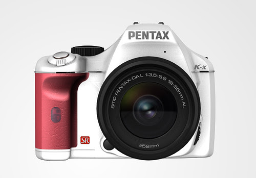 Pentax K-X color selection WhiteRedSilverLimited