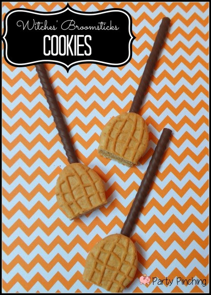 Witches' Broomstick Cookies by Party Pinching