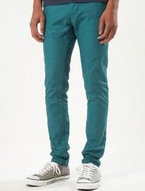 Topman Turquoise Green Skinny Chinos