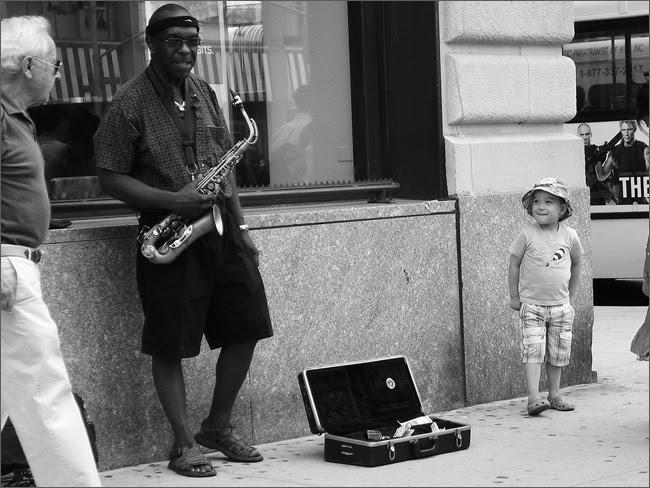 Sax player, UWS
