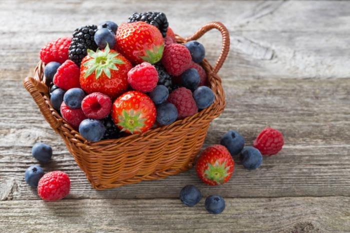 A basket of berries