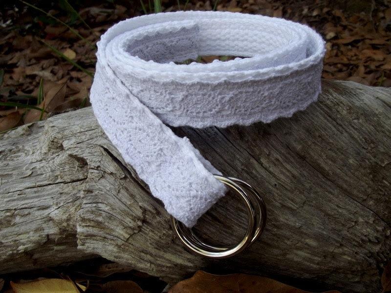 Womans Belt, Crochet Belt, White Belt