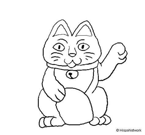 lucky cat coloring page coloringcrewcom
