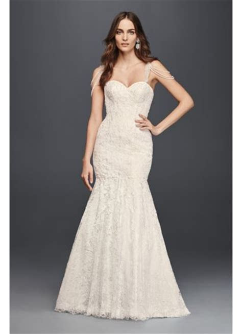 Lace Mermaid Dress with Swag Straps   David's Bridal