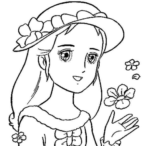 Coloriage204: coloriage de princesse gratuit
